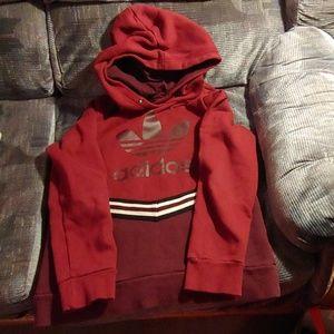 Adidas sweater hoodie marron color